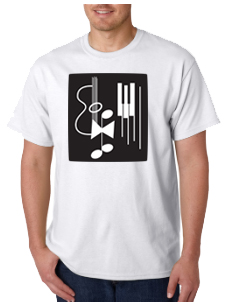 photo of men's white short sleeve tee shirt